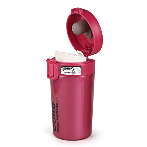 Cello Monty Stainless Steel Flask, 300ml, Pink