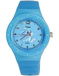 Vizion Analog Sky-Blue Medium Dial (Bugs Bunny-The Crazy Rabbit) Cartoon Character Watch for Kids-8825-1-2