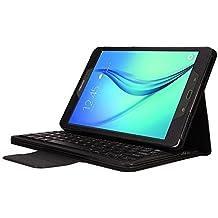 MP power @ Custodia Protettiva con Tastiera QWERTY Bluetooth per Samsung Galaxy Tab A 9.7 T550 Tablet (Nero)