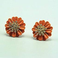 Burenqi Pendientes Daisy Flower Earrings Accesorios De Joyería para Mujer Pendiente Regalo De Niña