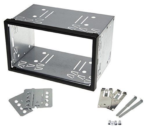Doppel DIN ISO 100mm Auto Radio Blende Halterung Schacht Rahmen universal Metall - Auto-rahmen