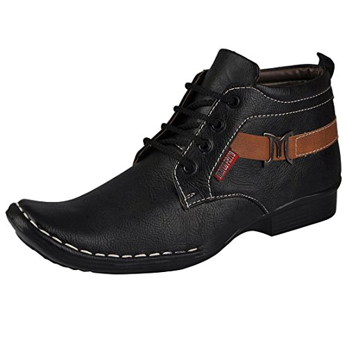 Marco Ferro Men's Black Synthetic Boots (Marco 1422 Black-43) - 9 UK