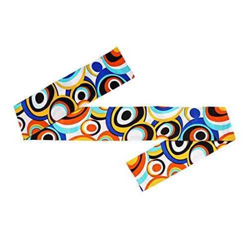 NET TOYS Kultiges Seventies Hippie-Haarband | Bubbles | Trendy Damen-Kopfschmuck 60er & 70er Jahre Stirnband geeignet für Festival & Mottoparty (Siebziger Und Achtziger Jahre Kostüm)