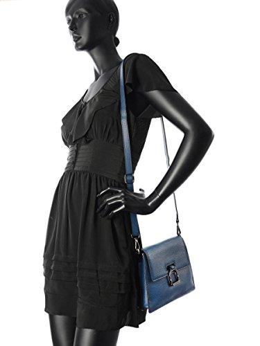 Sac Bandouliere Porte Travers Tess Cuir femme noir Bleu