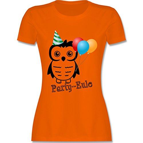 Eulen, Füchse & Co. - Party-Eule - tailliertes Premium T-Shirt mit Rundhalsausschnitt für Damen Orange