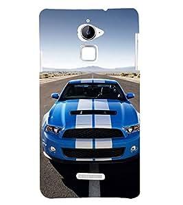 Fuson Designer Back Case Cover for Coolpad Note 3 Lite :: Coolpad Note 3 Lite Dual SIM (Car Blue Car Car on road Sports car Clear Sky)