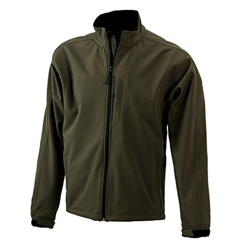 JAMES & NICHOLSON Trendige Jacke aus Softshell für Kinder Olive