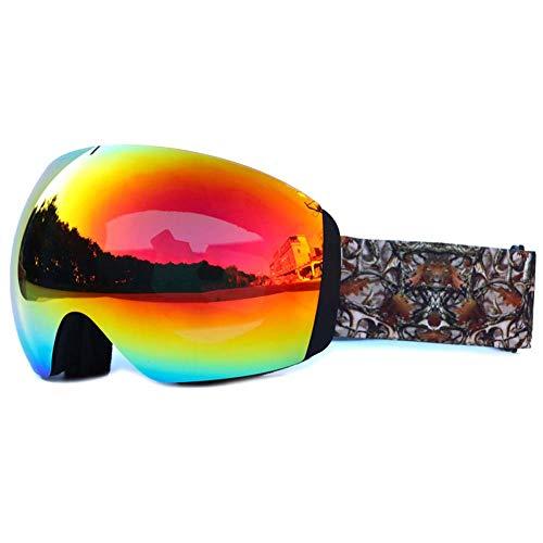 JXS-Goggles 2-Layer Skibrillen, Uv-Schutz gegen Schneefalzen, Bergsteigersteigerskibrillen,F