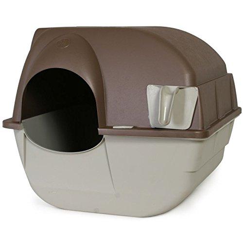 Wangado - toilette autopulente per gatti: la lettiera pulita si separa dai grumi con una rotazione, cassetto estraibile per smaltimento. misure: l 56 x p 51,5 x h 49 cm.