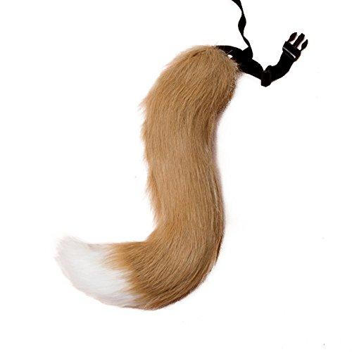 Pelz Fuchsschwanz Cosplay Furry Wolf Hund Einstellbare Karneval Kostüm (7#) (Fuchs Und Hund Halloween)