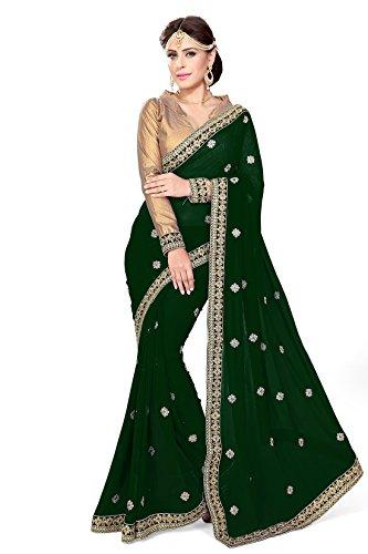Mirchi Fashion Mirchi Fashion Indian Sari Kleid mit Ungesteckt Oberteil/Top Damen Sarees