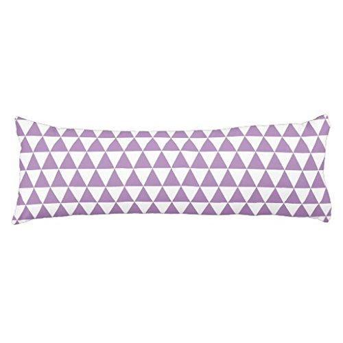 long-throw-taies-doreiller-de-corps-20x-54violette-africaine-triangle-gomtrique-dcoratif-taies-dorei