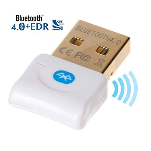 Weddecor Blanco Mini Bluetooth 4.0 USB Dongle Adaptador