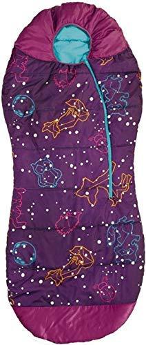 AceCamp Jugend Schlafsack Outdoor Indoor Leuchtend Mumienschlafsack Kinder Warm, Lila, 1,80m