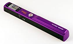PURPLE Vupoint Magic Wand Portable Scanner Bundle with 1 Color LCD Display