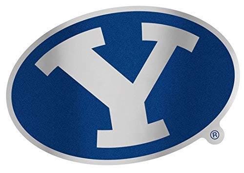 Wincraft Brigham (Young Universität BYU Cougar Auto Badge Aufkleber, Hart Dünn Kunststoff, 12,4x 7,4cm -