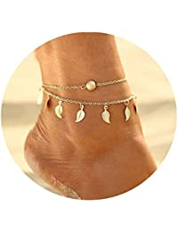 Shining Diva Fashion Jewellery Gold Plated One Leg Stylish Anklet For Women & Girls