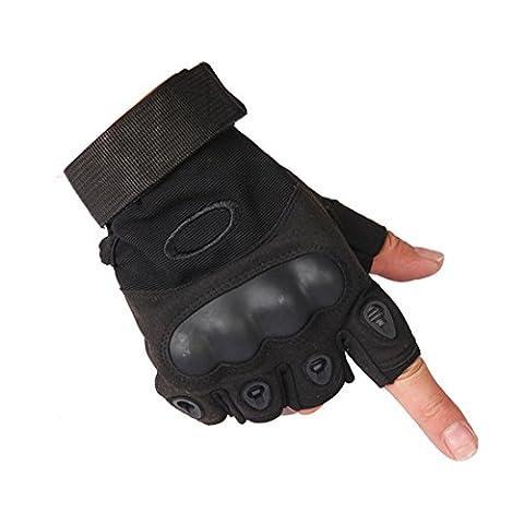 Yingniao Half Finger Handschuhe mit Anti-Rutsch-Pad Breathable für Radfahren Motorrad Fahrrad Reiten Bike Road Racing (übungen Fürs Fitnessstudio)