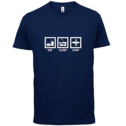 Eat Sleep Surf - Herren T-Shirt - 13 Farben Navy