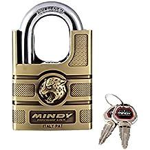 Mindy serratura con chiave in lega di zinco eingegeben vari Lucchetto, 1er Pack, AF16?60