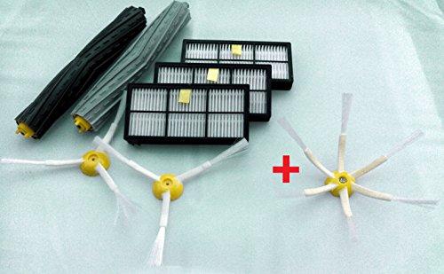 Kit di spazzole e filtri di ricambio, adatti per iRobot Roomba serie 800/900 (870, 871, 880, 890, 980)