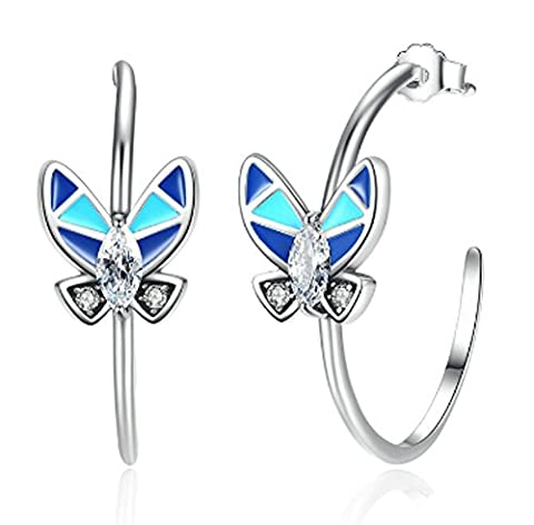 SaySure- 925 Sterling Silver Round Circle Earrings