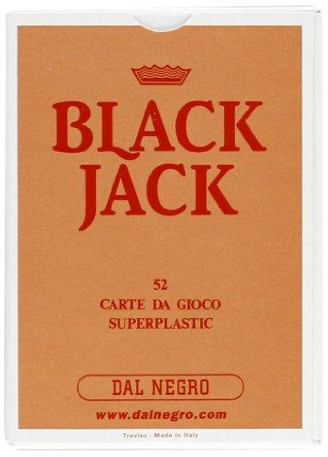 Dal negro 90019 - black jack astuccio singolo rosa, carte da gioco