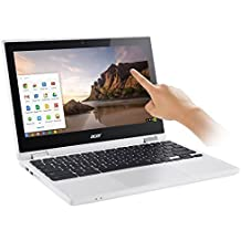 "2017 Newest Acer Premium R11 11.6"" Convertible 2-in-1 HD IPS Touchscreen Chromebook - Intel Quad-Core Celeron N3160 1.6GHz 4GB RAM 32GB EMMC Bluetooth HD Webcam HDMI USB 3.0 Chrome OS - White"