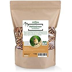 Gusanos de la Harina Secos (1 Litro)   Comida para Pájaros   100% Natural   AniForte