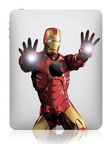 Große Auswahl an iPad 1234abnehmbare Haut Vinyl Aufkleber Aufkleber Art Design Ironman