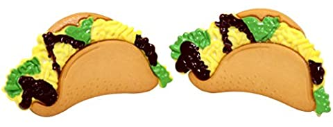 Bluebubble AMERICAN DINER Mexican Taco Stud Earrings With FREE Gift Box