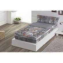 SACO NÓRDICO cama de 90 cm gris SKATE