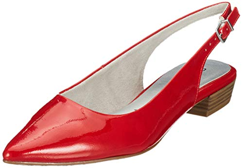 Tamaris Damen 1-1-29402-22 Slingback Pumps, Rot (Chili PATENT 520), 39 EU Damen Slingback Schuh