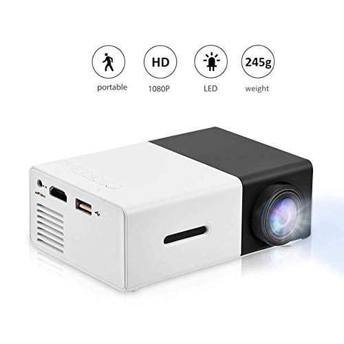 VBESTLIFE Mini Proiettore Videoproiettore Portatile a LED Mini Home Theater Supporto HD 1080P HDMI...