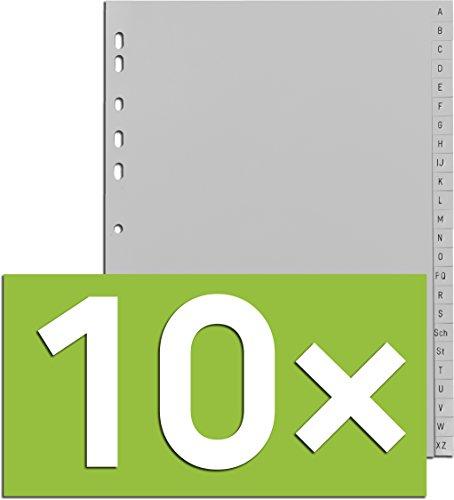 Durable Register A -Z, DIN A4, grau, PP, Universallochung, 24-teilig (10)