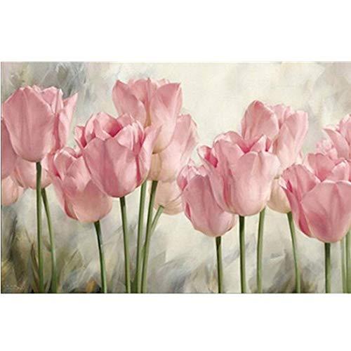 glymg needlework 5d diy diamond painting full square trapano tulipano fiore diamante ricamo a punto croce, motivo mosaico decorazione domestica 30x 45cm (30,5x 45cm)