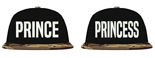 TRVPPY Snapback Camouflage Cap/Modell Prince & Princess/Desert Camouflage-Weiß / B691