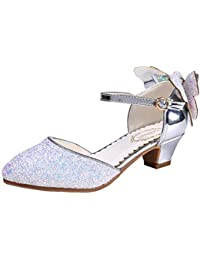 Chicas Princesa Cristal Tacones Sequins Sandalias Vestido De Fiesta