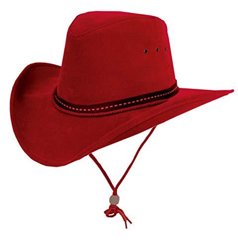 Cowboy Western Sommerhut aus Mikrofaser mit formbarer Krempe ()