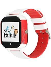 Reloj con GPS para niños SaveFamily Modelo Junior Acuático Blanco. Smartwatch con botón SOS, Permite Llamadas y Mensajes. Resistente al Agua Ip67. App Propia SaveFamily