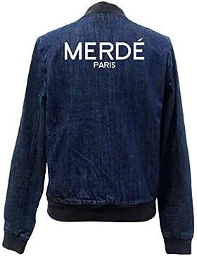 Merde Paris Bomber Chaqueta Girls Jeans Certified Freak