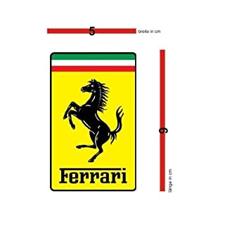 Ferrari original Aufkleber eckig Wappen 5x9cm