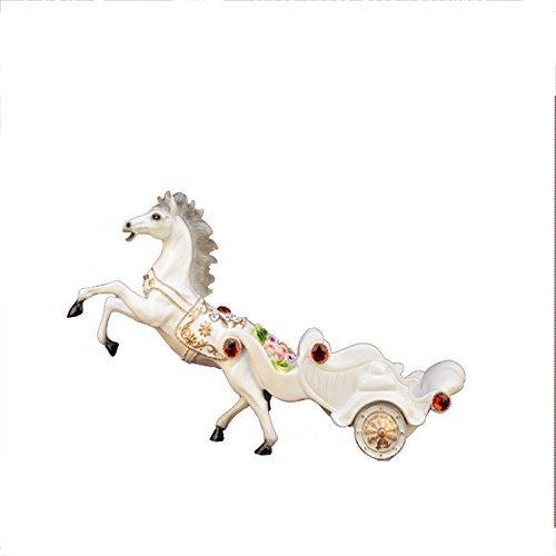 GBYZHMH Voiture à cheval en résine blanche Continental Rack vin vin vin Décoration Créativité Bar porte-Étagère à vin Décoration Artisanat Salon cadeau de pendaison