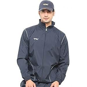 TK Sports Wind Breaker and Wind Cheater Jacket, Men's XX-Large (Black)