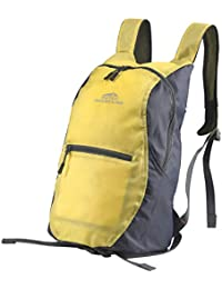 Dutch Mountains Backpack tilo Senderismo bolsas Mochila con bolsillos Trekking Mochilas 14L Foldable, color amarillo