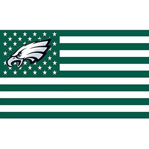 Philadelphia Eagles Stars and Stripes NFL Flagge Banner-3x 5ft-USA Flagge (Eagles Gear Nfl)