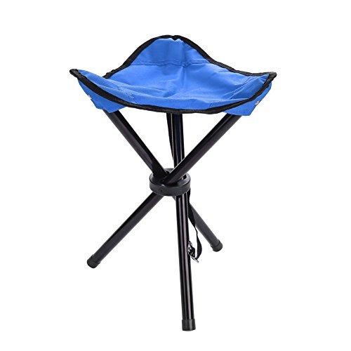 Dilwe sedia treppiede portatile sedile pieghevole sgabello leggero per campeggio pesca picnic bbq(l-blu)