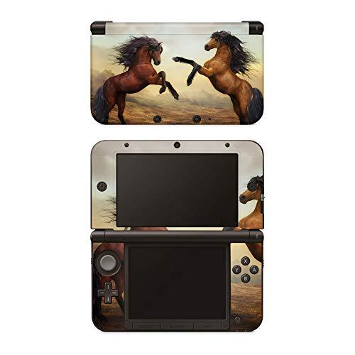 Skins4u Aufkleber Design Schutzfolie Vinyl Skin kompatibel mit Nintendo 3DS XL Zwei Pferde