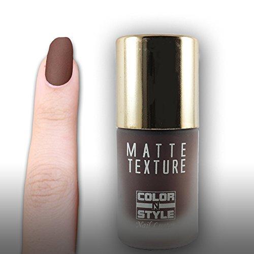 Color N Style Matte Texture Nail Paint Mt 30, Brown