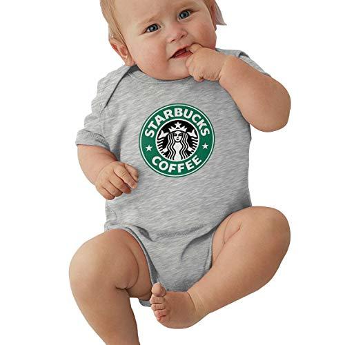 Kinder Baby Mädchen Jungen Sommer Bodys T-Shirt Starbucks Logo T Shirt Shirts Für Kleinkind Mädchen Jungen Kurzhülse Grau 6 Mt -